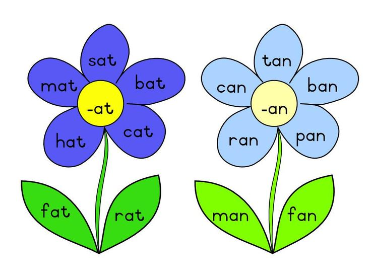 All the word families designed using flowers to put up and display them in your classroom. The files are in JPG format