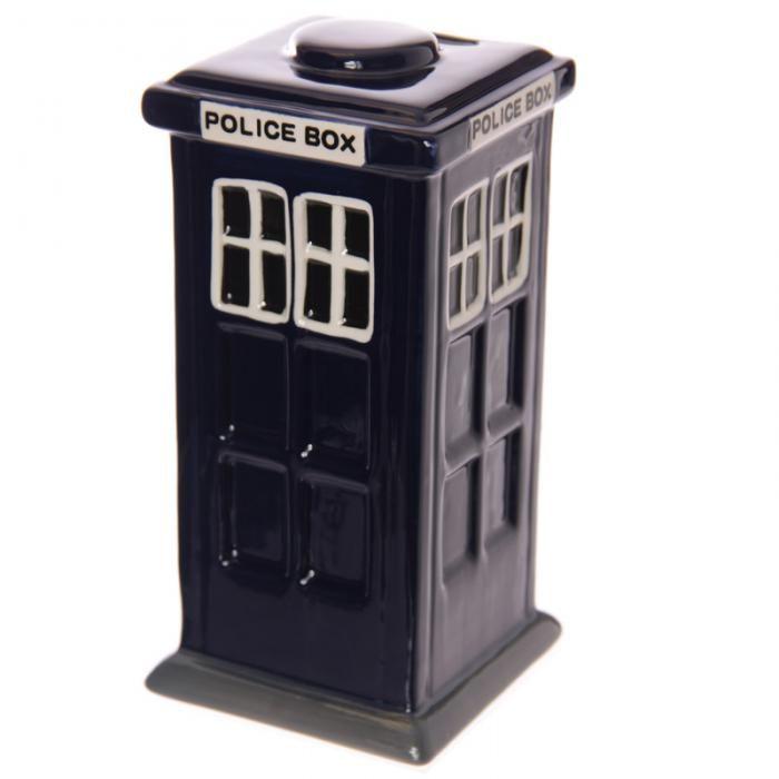Keramická pokladnička Policejní budka #pokladnička #PoliceBox #moneybox #giftware