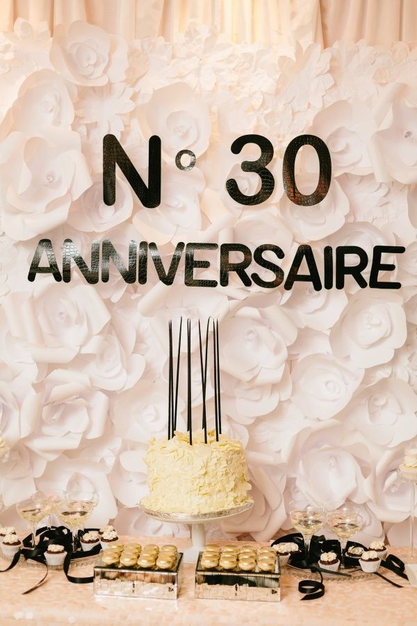 Chanel-inspired 30th birthday bash: http://www.stylemepretty.com/living/2015/12/29/chic-chanel-inspired-30th-birthday-bash/ | Photography: Jodee Debes - http://jodeedebes.com/