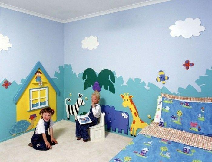 Wandmalerei Kinderzimmer 21 Ideen, wie Sie eine ganz