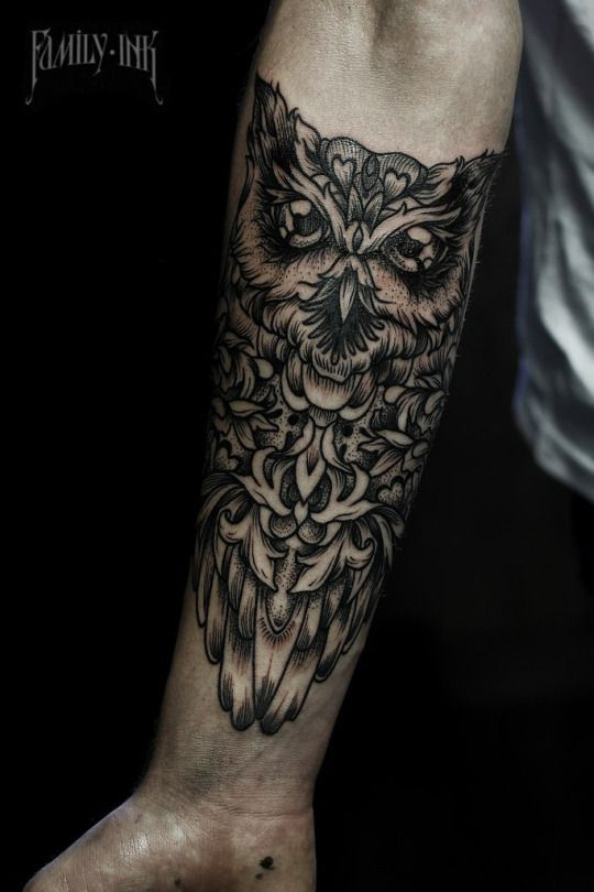 Share Tweet Pin Mail 26. GEOMETRIC OWL TATTOO DESIGN ON ARM 27. OWL PERCHED ON HORSESHOE WITH FLOWERS 28. CLOCK INISDE ...
