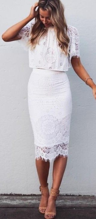 #summer #fblogger #outfits | White Lace Perfection                                                                             Source