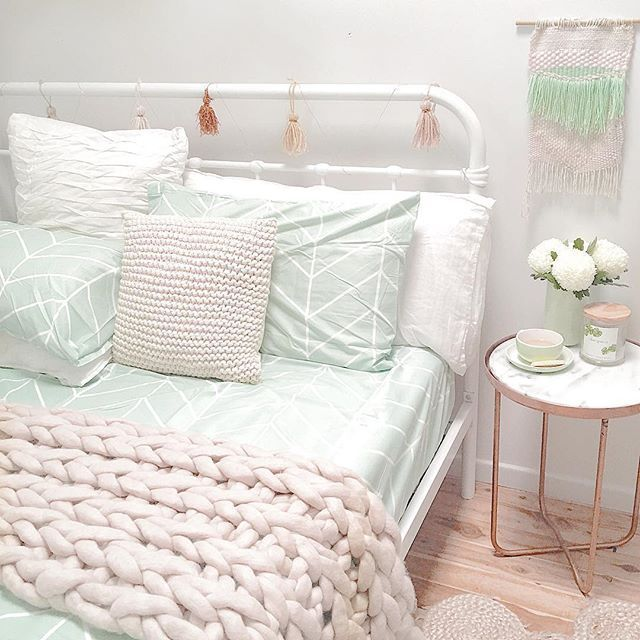 Mint and marble bedroom kmart styling