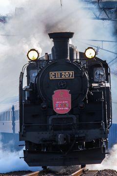 東武鉄道は2017年度からを目途に、東武鬼怒川線で蒸気機関車の運転を行う計画を発表。JR北海道からC11形207号機を借り入れる。写真は函館本線朝里~小樽築港を走るC11 207