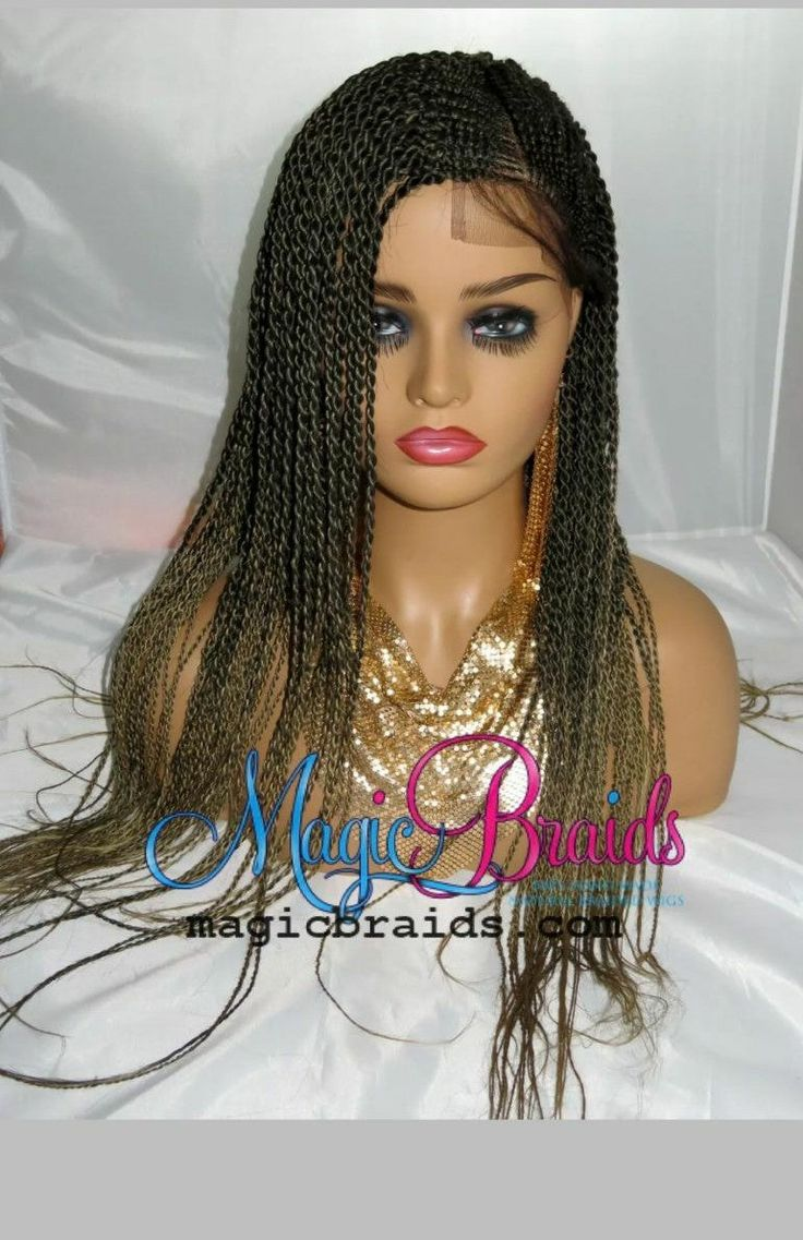 Fully braided lace front wig with a human hair closure 4