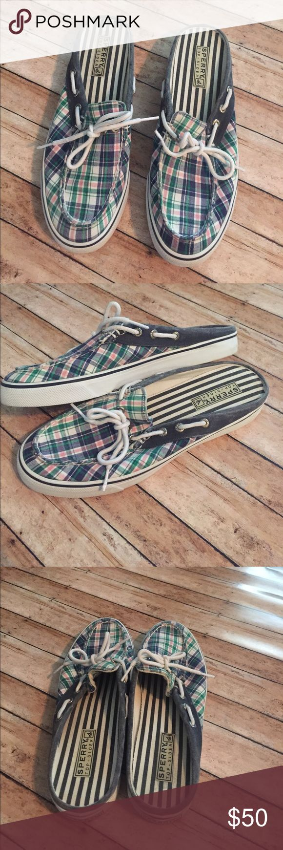 Sherry Top-Sider Plaid Slip-On Loafers Brand:  Sperry Top-Sider   Color: Plaid   Size: 8.5 Ladies   Condition: GUC, Show some wear but lots of life left in these.   ❌Trades❌  ⚡️I ship lightening fast⚡️  🎉Discounts with bundles🎉 Sperry Top-Sider Shoes Flats & Loafers