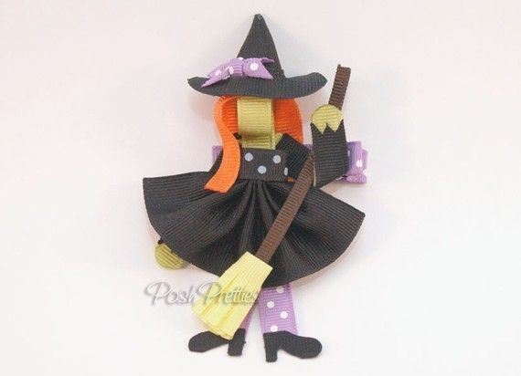 Witch bow clip
