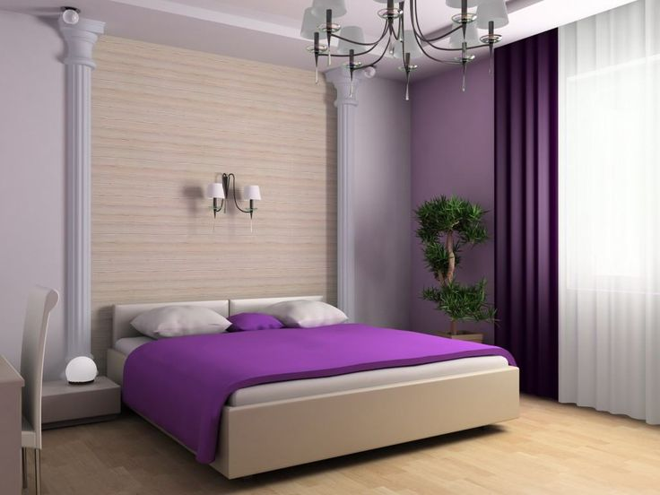 Bedroom Pretty Interior Purple Bedroom With Indoor Plant All About Purple Bedroom Design And Inspirations