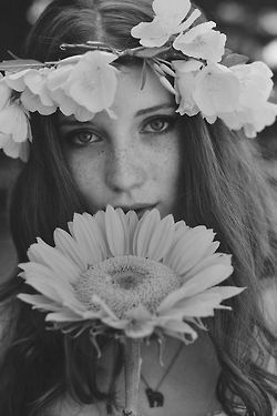 Love the sunflower & the black and white photo