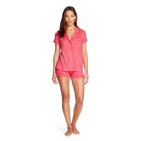 Women's Sleep Fluid Knit Pajama Set Playful Coral - Gilligan & O'Malley®