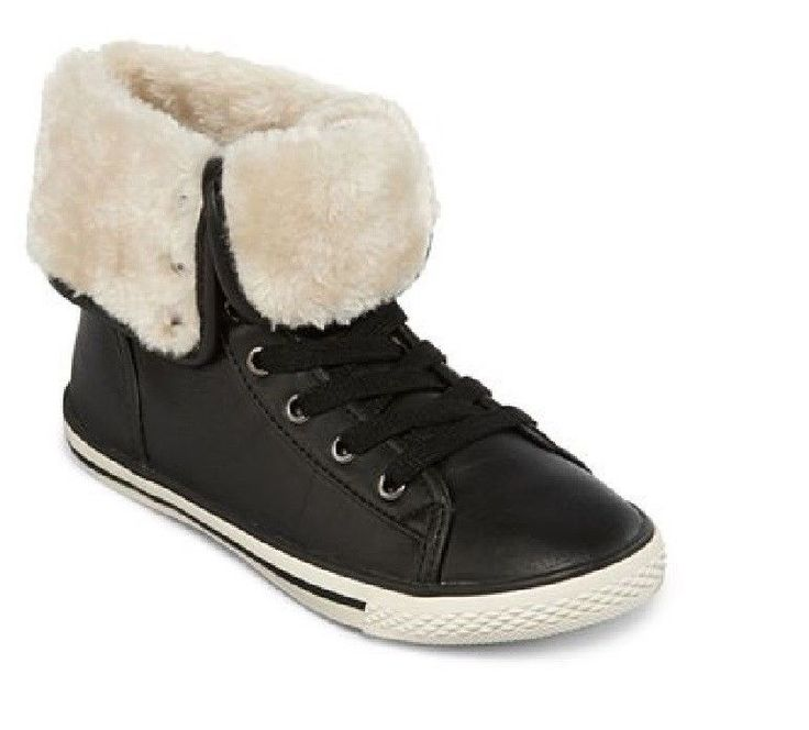 Details About Arizona Shoes Haylee Faux Fur Lined Black