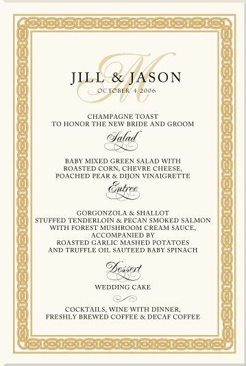 Celtic Wedding Menu Cards Irish Products Scottish Customs Traditions Claddagh Symbols Knots