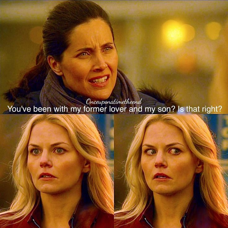 "Hahahaha, Emma's face! Although we as an audience have known this for awhile, it's about time someone actually notices how weird this family and their relationships are!!! Milah and Emma Swan - 5 * 14 ""Devil's Due"""