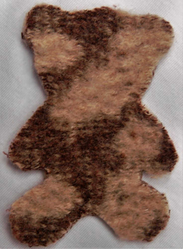 Felted Cashmere Iron On  Teddy Bear by TheSweaterPatch on Etsy