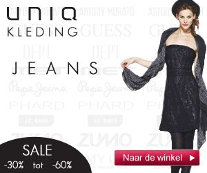 Vrijwel de gehele sale collectie van Uniqkleding.nl zit nu in de prijscategorie 40, 50 & 60% korting. Veel aanbiedingen dus in zowel dames- als herenmerkkleding van Guess, Zumo, Antony Morato, Pepe Jeans, Met InJeans en meer. Koopjesjagers slaan nu hun slaag met deze extra lage prijzen.