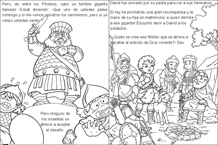 David Y Goliat Para Colorear Dibujos Cristianos Para: 24 Best Images About 2° Primaia On Pinterest
