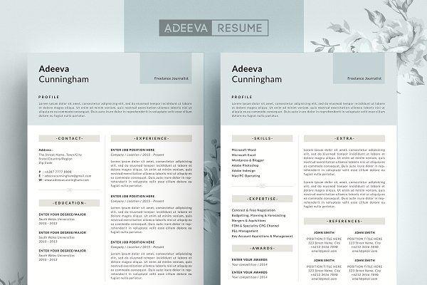 Simple Resume Template Cunningham - Resumes