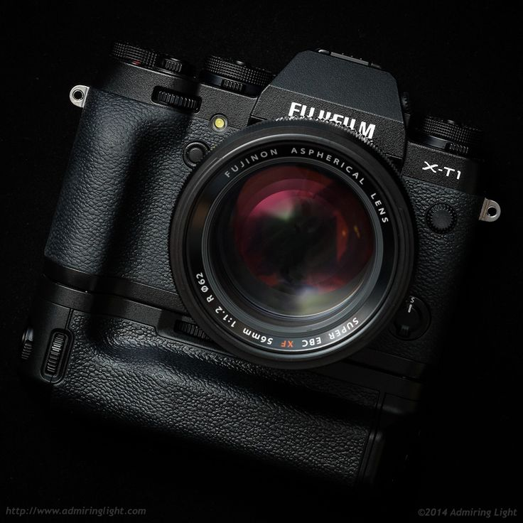 The Fujifilm X-T1 with battery grip VG-XT1 and the Fujinon XF 56mm f/1.2