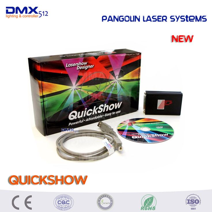 Free shipping Original product more powerful Pangolin laser systems quickshow usb software for laser show designer