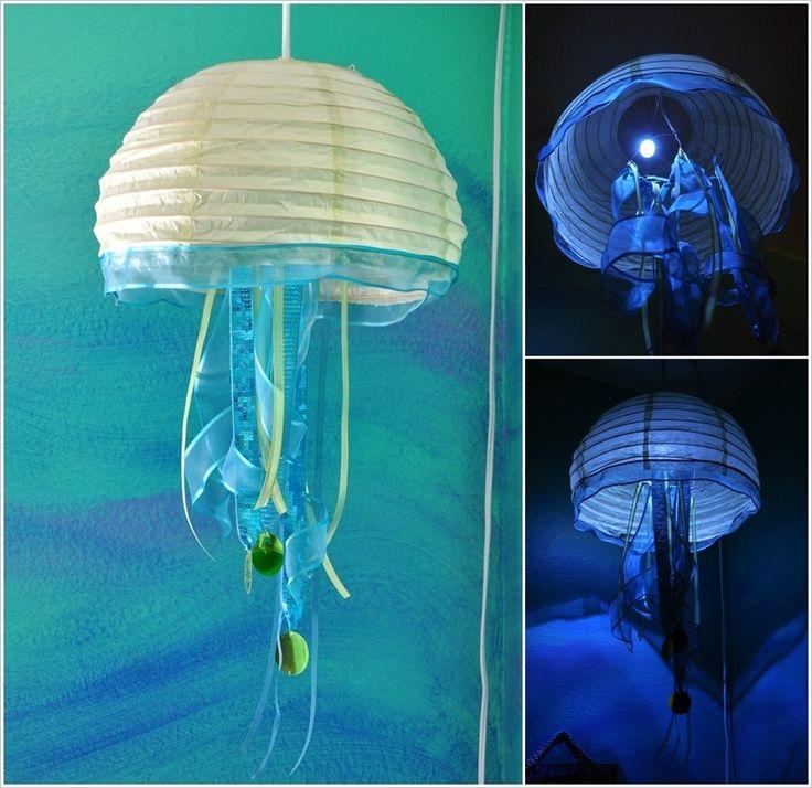 DIY Jellyfish Lantern | Image via: i need a craft room
