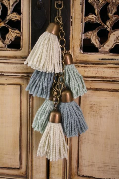 subtle colours play up the texture of these simple rugged tassels.