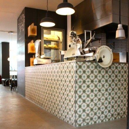 VIA Zementmosaikplatten No 10700 Im Theresa Grill In Mnchen