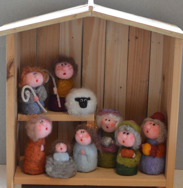 Nativity for Russ Needle Felted by Briege Connolly