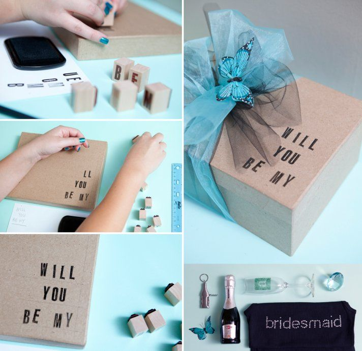 9 Creative Ways to Say Will You Be My Bridesmaid?   This is a great way of asking your BFFs to be your bridesmaid. So sweet and thoughtful.
