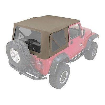Rampage Complete Soft Top w/ Frame 97-06 Jeep Wrangler TJ 68736 Khaki Diamond