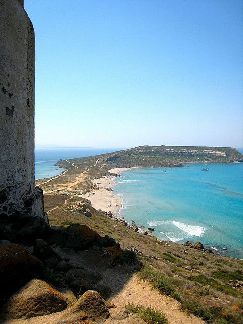 Tharros - Oristano. One of the best ways to explore the island of Sardinia is by bike. Find out more about our self-guided cycling trips here: http://www.discoverfrance.com/italy/self-guided/sardinia-island-6-nights