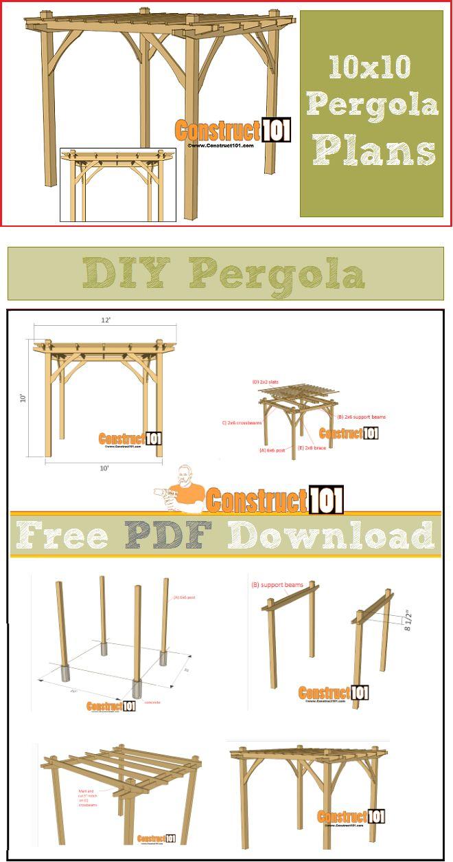 X Pergola Plans Pdf Download