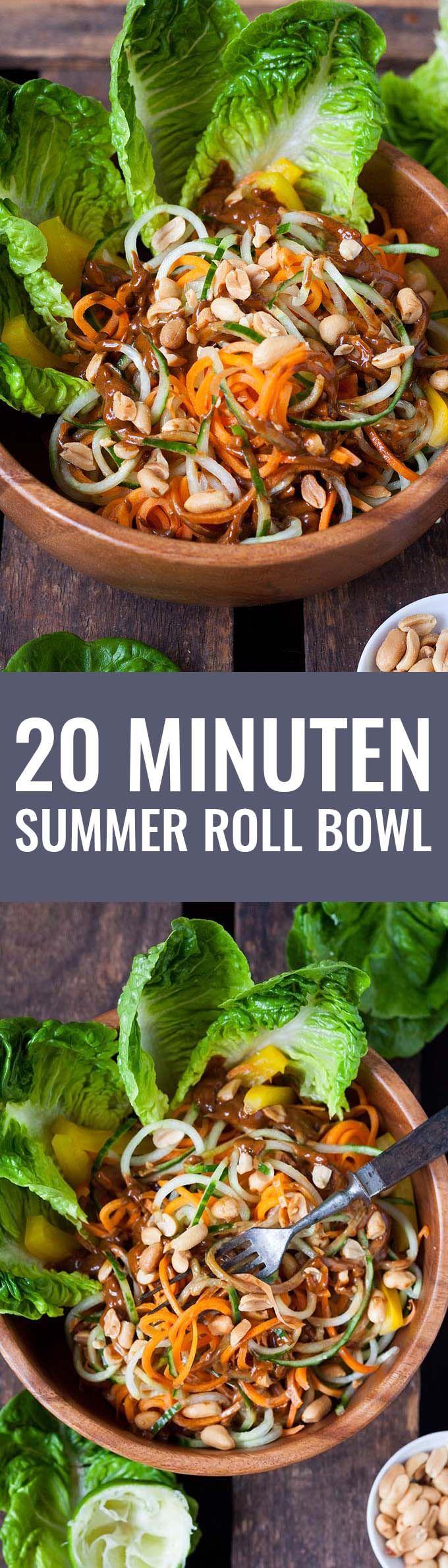 20 Minuten Summer Roll Bowl - Kochkarussell.com