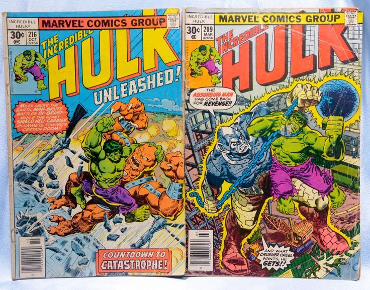 2 Marvel Comics-The Incredible Hulk Comics #209 March 1977/#216 Oct. 1977 by VintageByDuran on Etsy