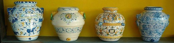 orci in ceramica italiana lavorata e dipinta a mano