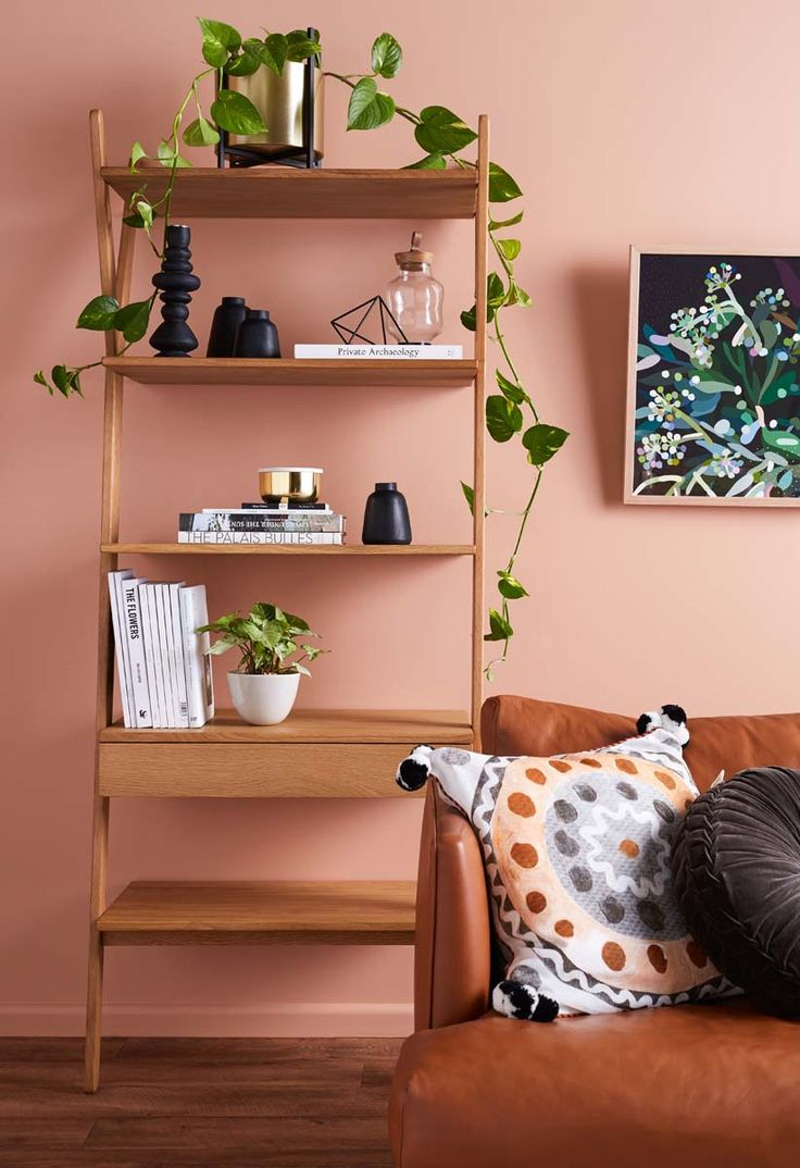 Humpday design details... With some stunning styling by Citizens Of Style in our Modern Femme Lounge. Mainly monochrome wares, brass elements and greenery all sitting pretty on our Whywood Shelves against a clay wall... #modernfemme #femininefeels #boho #clay #botanical #interiordesign #design #housegoals #livingroominspo #interiordecor #designdetails #humpday #shelfie #shelfstyling #indoorgreen #womancrushwednesday #wcw