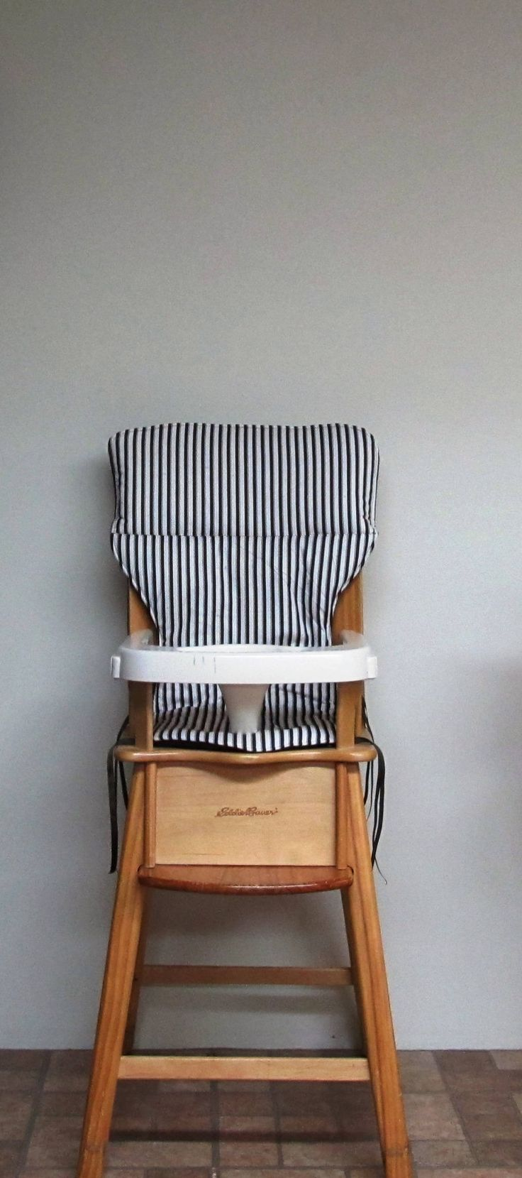 eddie bauer highchair pad, baby accessory, cushion, replacement chair pad, nursery decor, baby feeding chair pad, jenny lind, brown stripes by SewingsillySister on Etsy