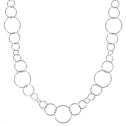 I got this necklace to match some earrings I had purchased from Silpada and it goes perfectly. It's a great longer necklace to wear with open neck blouses when you want something long either by itself or with another necklace or two for a layered look.