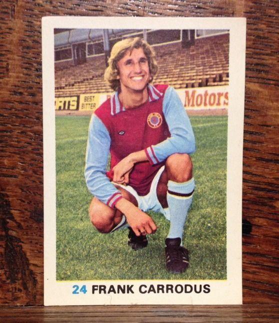 1977/78 SOCCER STARS - No 24 - FRANK CARRODUS - ASTON VILLA