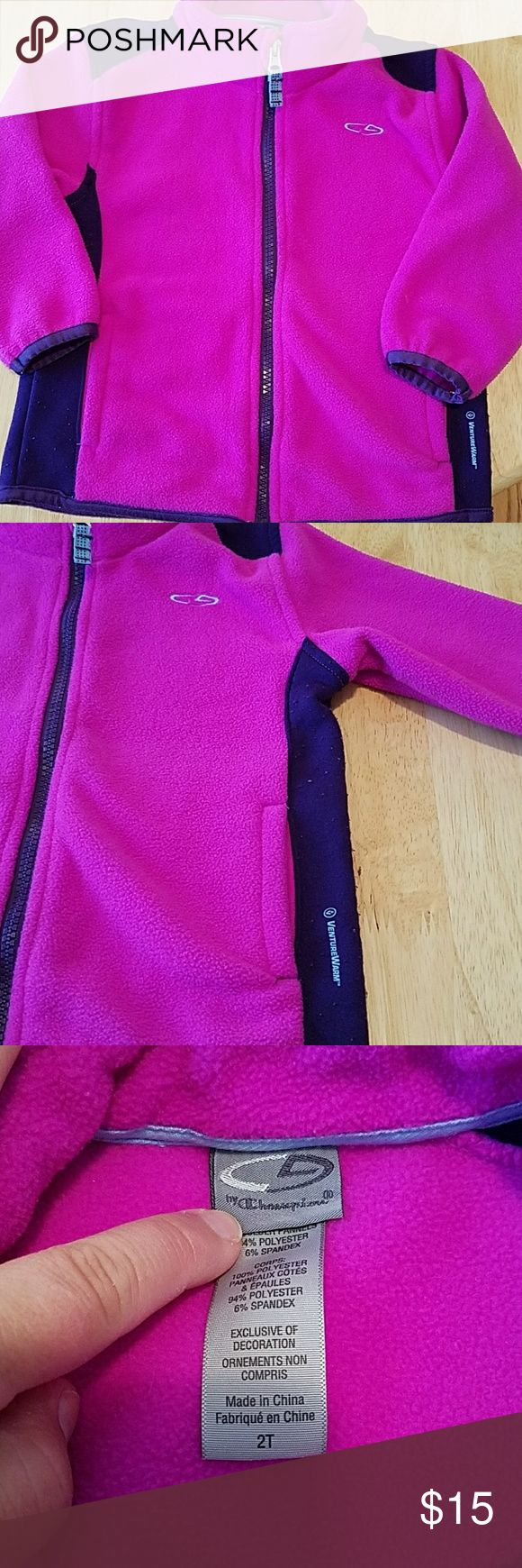 Champion Fleece jacket Fushia and purple zip up jacket Champion Jackets & Coats