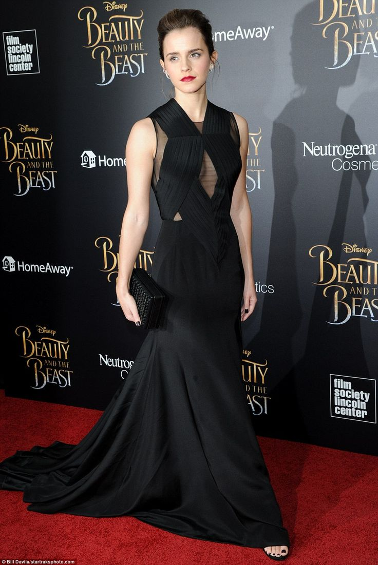 Emma Watson attends the 'Beauty And The Beast' New York screening on March 13, 2017