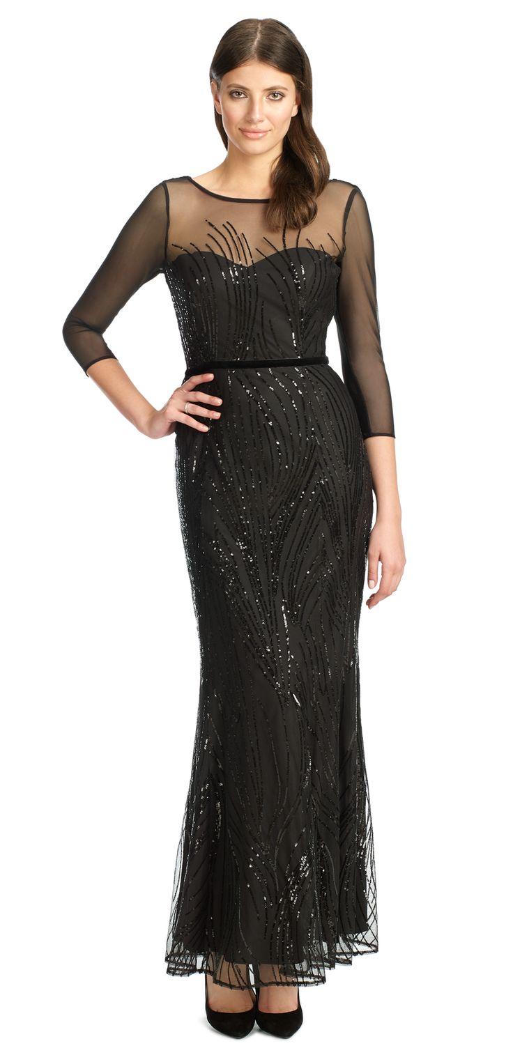 Amia Long Sequin Dress