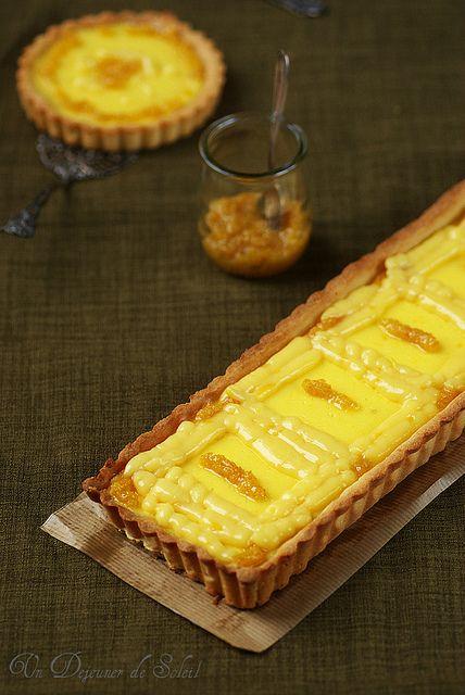Tarte 100% citron (flan, curd et confit de citron)