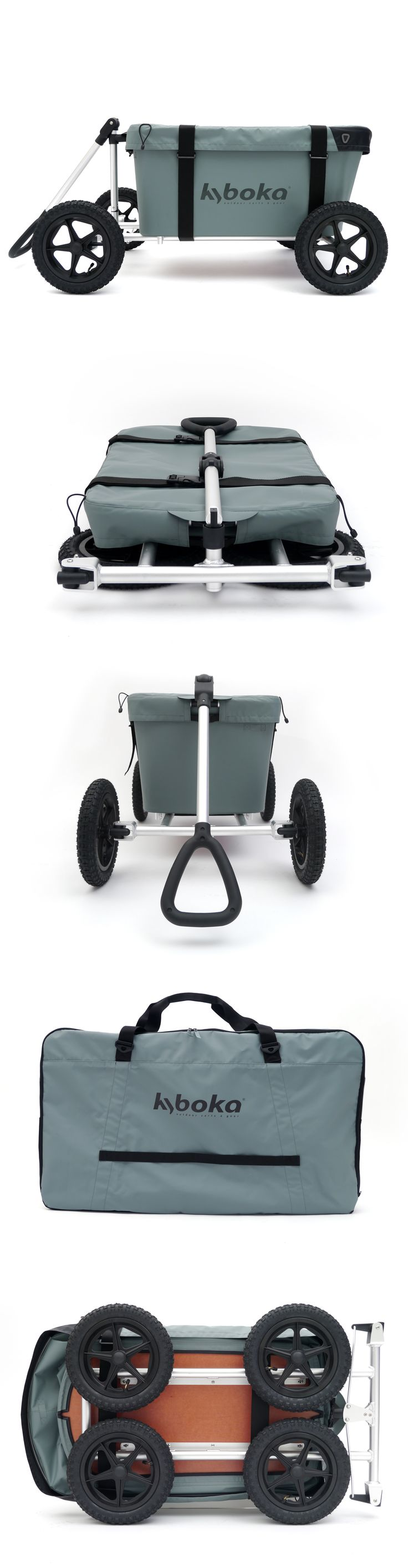 Dutch design! Cart for outdoor use, foldable into a small package. Light weight, ergonomic and easy to tow.