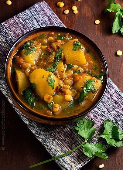 Curry de pommes de terre et pois cassés