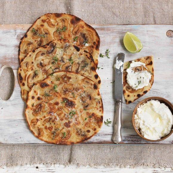 Collect this Quick and Easy Mushroom Flatbread recipe by Australian Mushroom Growers. MYFOODBOOK.COM.AU | MAKE FREE COOKBOOKS
