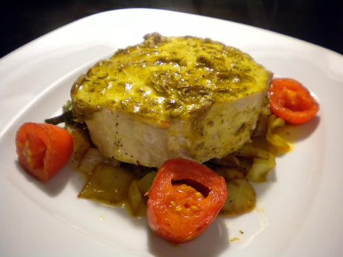 Wild Blue Marlin Filets with Lime Butter Sauce