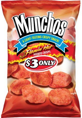 Munchos Flamin' Hot Potato Crisps