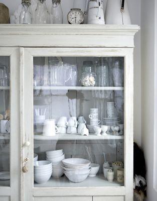 white: Kitchens, Decor, Ideas, Interior, Shabby Chic, White, Cabinet, House