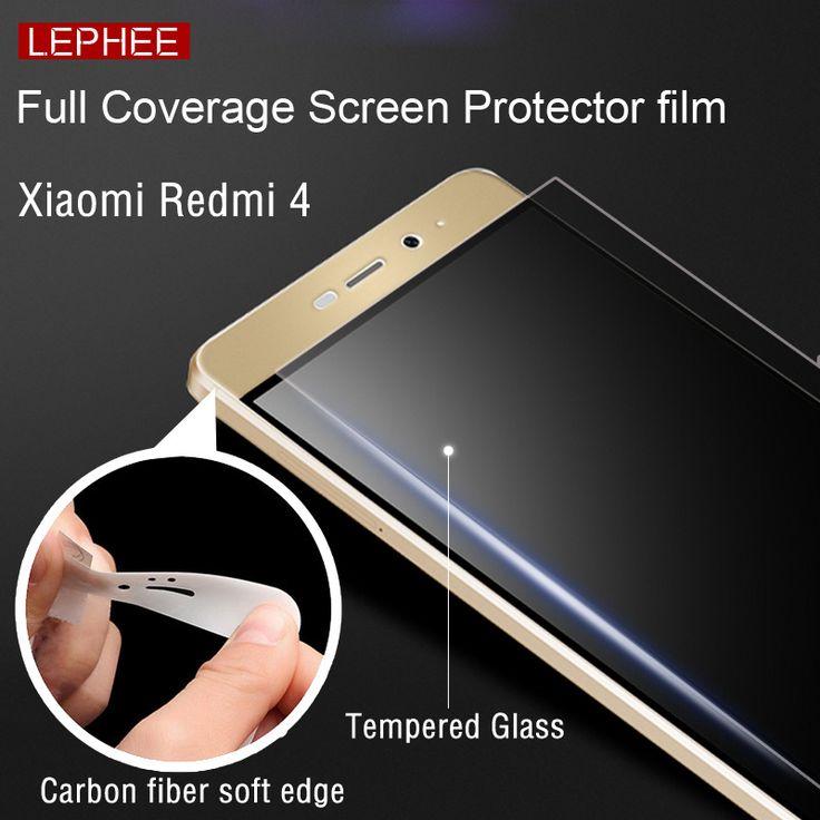 Lephee Xiaomi Redmi 4 pro prime 9H Hardness Tempered Glass Film   3D carbon fiber soft edge Full Cover Sceen with retail package ** Encontrar más información haciendo clic en la VISITA botón