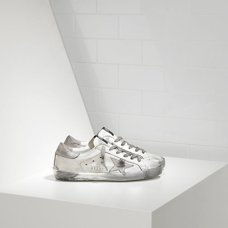SUPER STAR sneakers in leather with suede star - Women